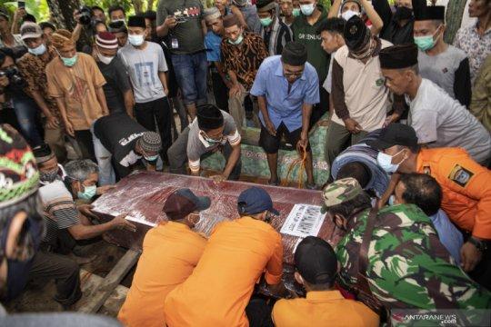 RS Polri terima 308 kantong jenazah korban jatuhnya Sriwijaya Air