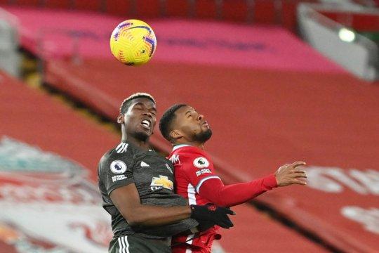 Seri 0-0 lawan Liverpool, MU tetap puncaki klasemen