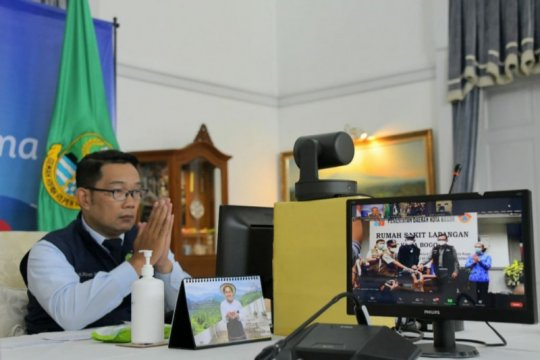 Ridwan Kamil apresiasi peresmian RS Lapangan COVID-19 di Kota Bogor