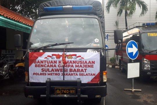 Polrestro Jaksel kirim bantuan kemanusiaan untuk bencana Sulbar