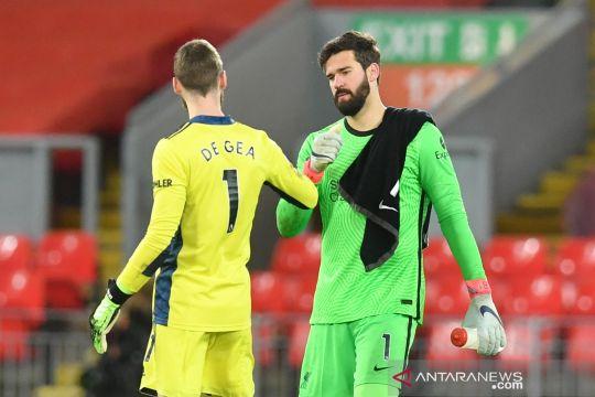 Liga Inggris: Tahan Liverpool, Manchester United tetap di puncak