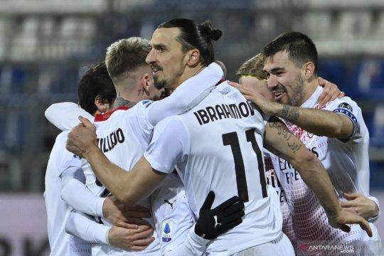 Klasemen Liga Italia: Milan pelihara keunggulan tiga poin atas Inter
