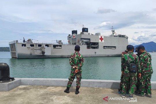 RS terapung TNI AL tiba di Mamuju dan siap tangani pasien gawat