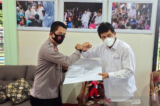 Polda Lampung kunjungi Kantor Berita ANTARA