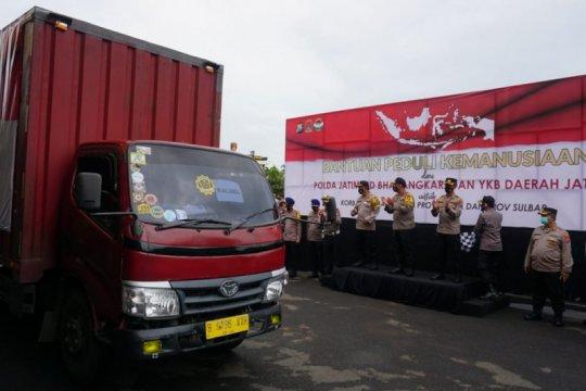 Polda Jatim kirim 25.165 paket bantuan sembako ke Kalsel dan Sulbar
