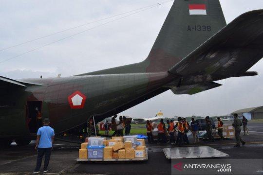 Empat pesawat TNI AU dikerahkan bantu korban bencana Sulbar dan Kalsel