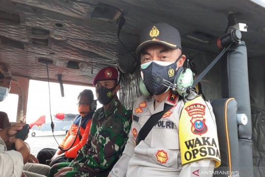 Wakapolda Kalsel dengan helikopter ke lokasi terisolir banjir