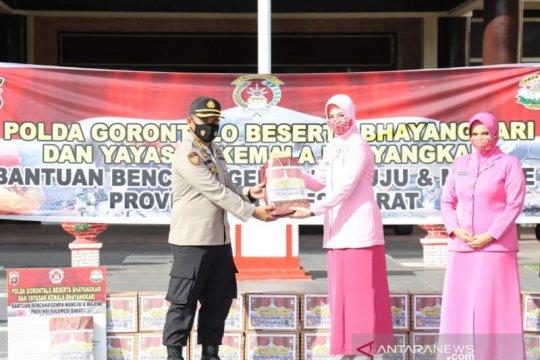 Polda Gorontalo salurkan bantuan korban bencana Sulbar