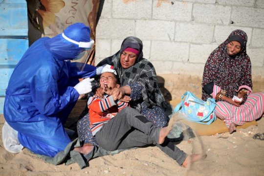 Gaza terima paket pertama vaksin COVID-19 setelah dapat izin Israel