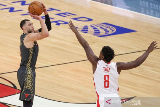 Zach LaVine cetak 33 poin dan bawa Bulls kalahkan Rockets