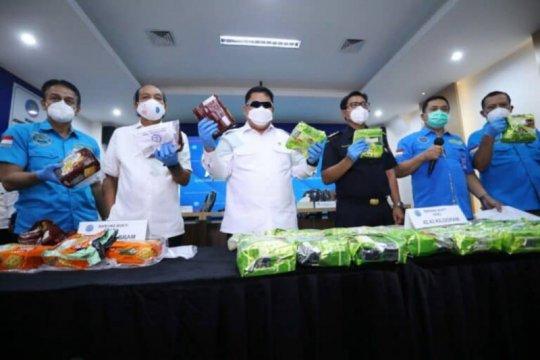 BNN ungkap dua kasus narkoba dengan barang bukti 53,05 kg sabu