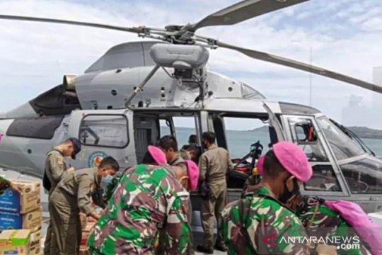 Dua helikopter bantu distribusi bantuan di lokasi terisolir Sulbar