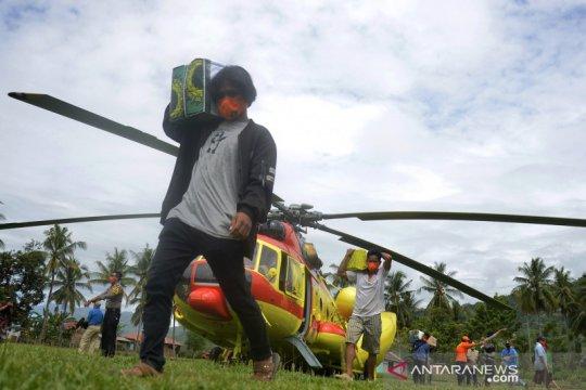 Helikopter salurkan bantuan logistik korban gempa Sulawesi Barat