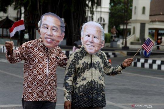 Presiden Jokowi ucapkan selamat atas pelantikan Joe Biden