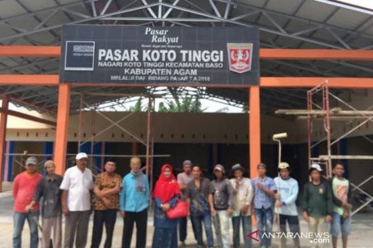 Pemkab Agam renovasi 21 pasar tradisional sepanjang 2015-2019