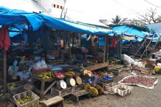 Pasar tradisional di Mamuju mulai beraktivitas