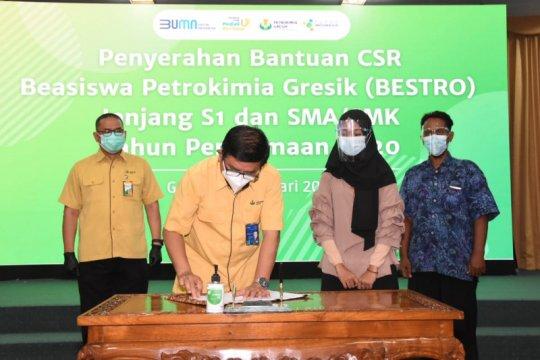 Petrokimia Gresik salurkan beasiswa senilai Rp1,7 miliar