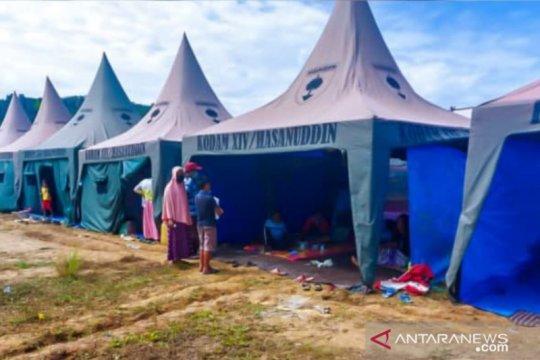 Kodam XIV/Hasanuddin sediakan tenda untuk 1.500 pengungsi