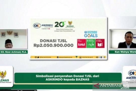 Askrindo gandeng Baznas salurkan donasi program pendidikan-kesehatan