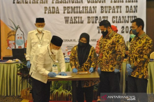 KPU Cianjur tetapkan Herman-TB Mulyana pemenang Pilkada Cianjur