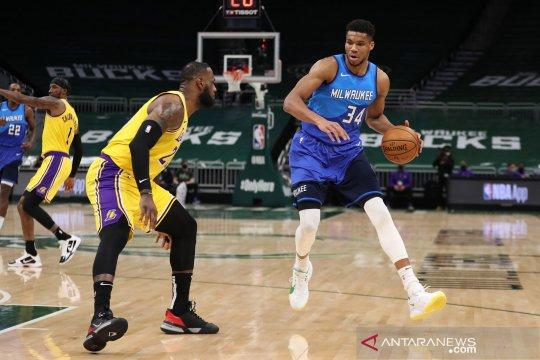 LeBron James cetak 34 poin saat Lakers kalahkan Bucks