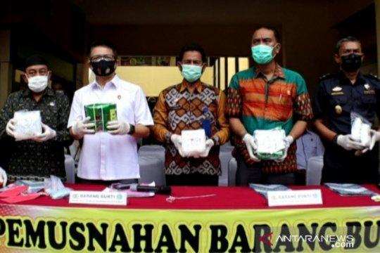 Polda Kalbar musnahkan barang bukti 4 kilogram sabu