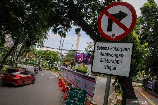Penutupan sementara Jalan Katedral di Jakarta