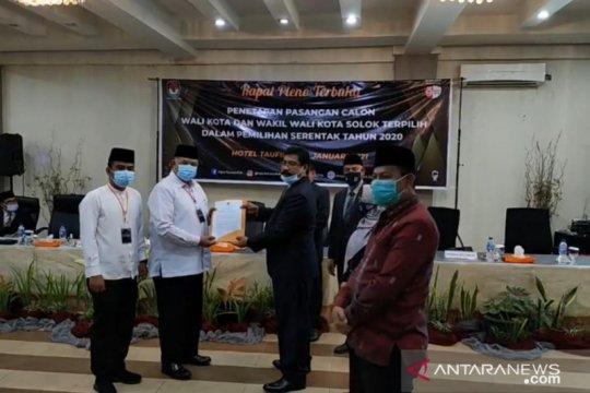 KPU tetapkan Zul Elfian-Ramadhani pemenang Pilkada Kota Solok