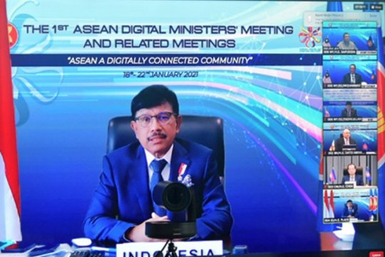 Menteri Digital ASEAN sepakati kerja sama dengan AS, China dan India