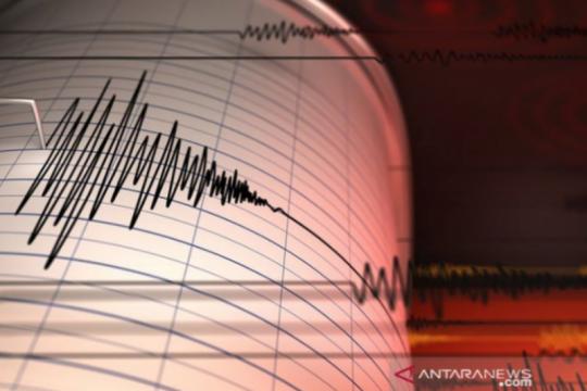 Gempa magnitudo 5,5 guncang barat daya Pesisir Barat