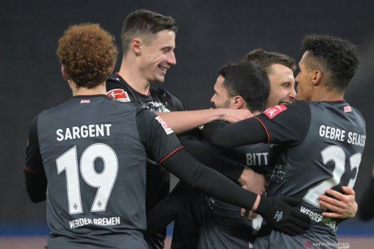 Werder Bremen hancurkan tuan rumah Hertha Berlin 4-1