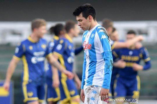 Napoli takluk 1-3 dari Verona meski Lozano ukir gol tercepat