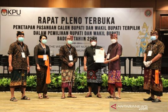KPU Badung tetapkan Giri Prasta-Suaisa