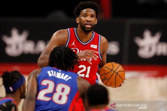 Sumbang 33 poin, Joel Embiid bantu 76ers tumbangkan Pistons
