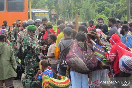 144 pengungsi kembali dipulangkan ke Banti Tembagapura