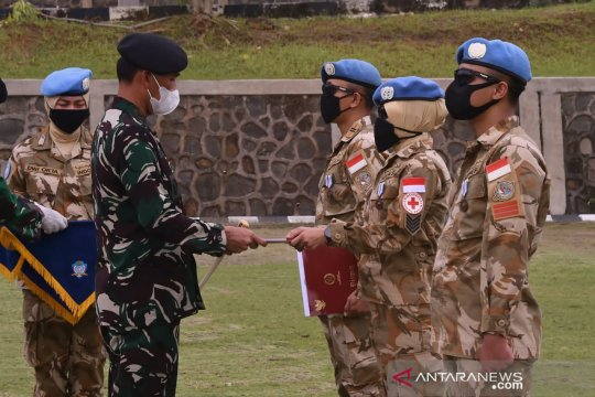 Usai misi perdamaian, 186 prajurit Konga Unifil selesai karantina