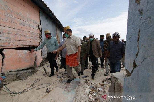 30 rumah hancur diterjang banjir rob di Babel bakal direlokasi