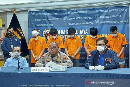 Polda Metro Jaya ringkus lima perampok minimarket di Tangsel