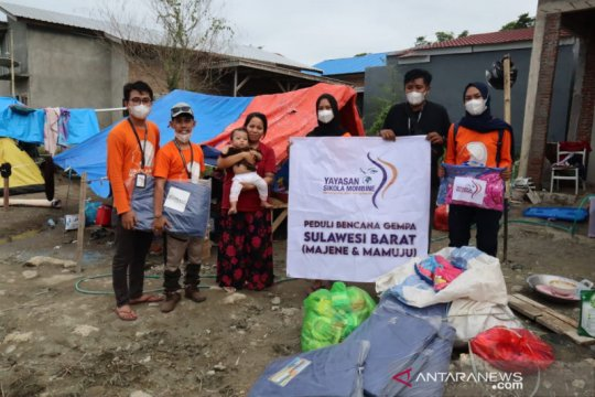 Sikola Mombine Sulteng bantu logistik kaum rentan korban gempa Mamuju