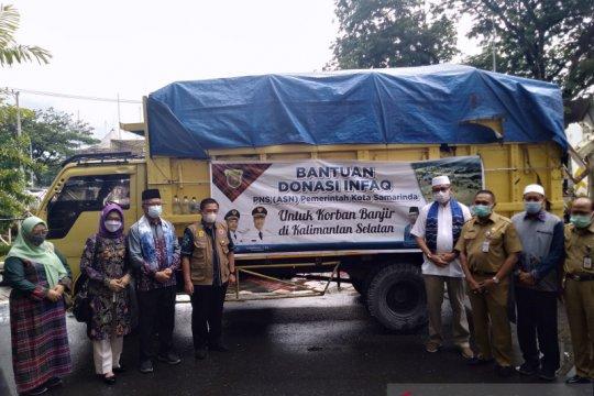 Wali Kota Samarinda antar langsung bantuan korban banjir di Kalsel