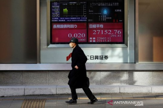 Saham Tokyo dibuka lebih rendah, Nikkei 225 jatuh 353,65 poin