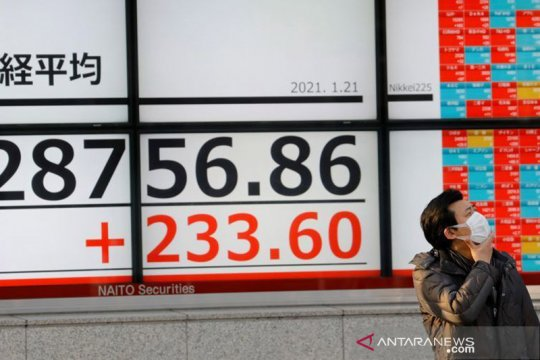 Saham Tokyo dibuka melonjak, Indeks Nikkei tembus level 30.000 poin