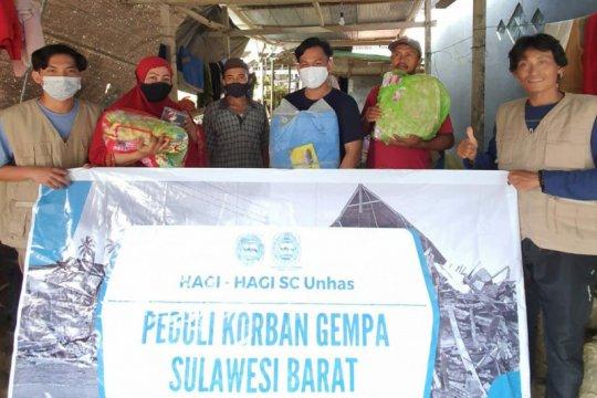 Ahli geofisika Unhas salurkan bantuan logistik ke Sulbar