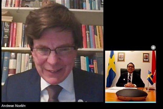 Indonesia-Swedia bahas perkembangan 70 tahun hubungan bilateral