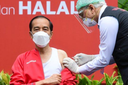 Presiden Jokowi hingga Raffi Ahmad tak rasakan sakit saat divaksin