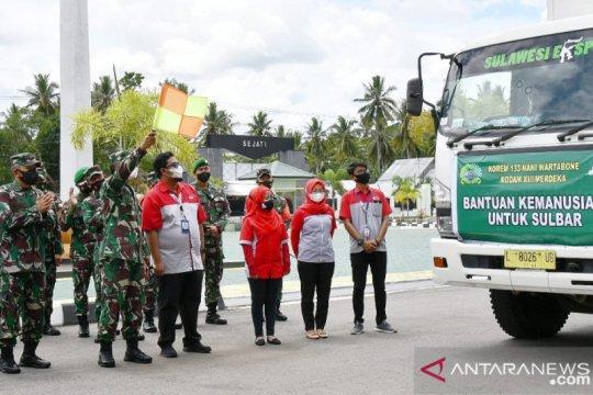 Danrem 133/NW lepas bantuan kemanusiaan untuk Sulawesi Barat