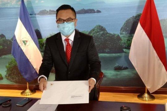 Dubes RI serahkan salinan surat kepercayaan kepada Menlu Nikaragua