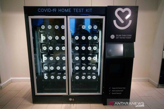 Penjualan alat tes COVID-19 melalui otomat pengecer
