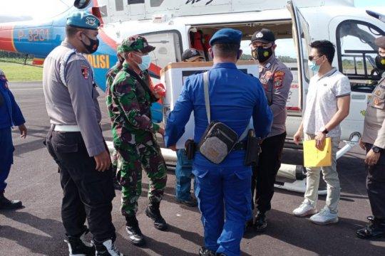 Helikopter Polri distribusikan vaksin COVID-19 ke wilayah kepulauan