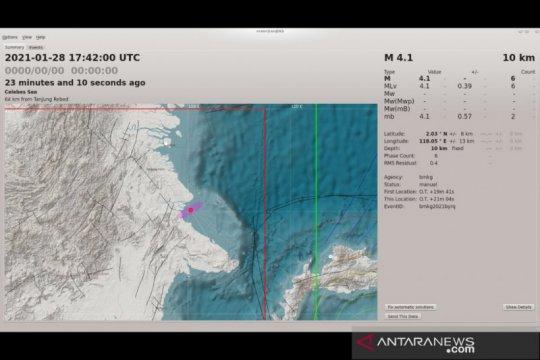 Gempa pertama 2021 di Kalimantan guncang Berau